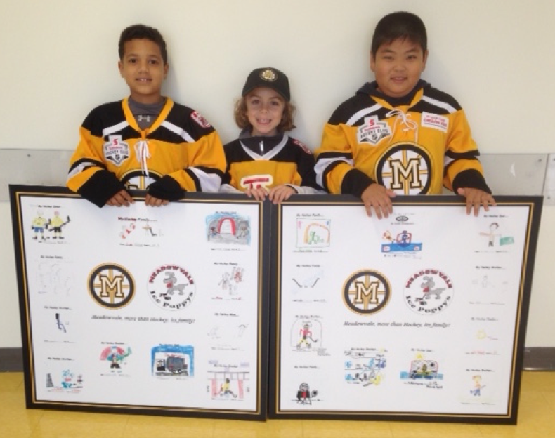 Meadowvale, My Hockey Family! A Special Children's Art Project