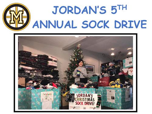 Jordan's Sock Drive for the Homeless: Nov 26th – Dec 5th