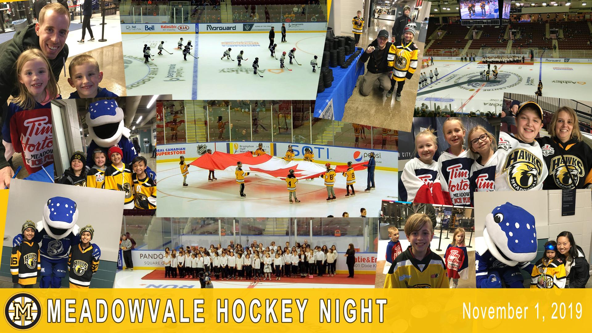Meadowvale Hockey Night -Mississauga Steelheads Game – Nov 1, 2019